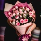 Букет из 5 кустовых роз №635