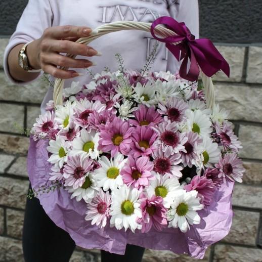Корзина с цветами №74