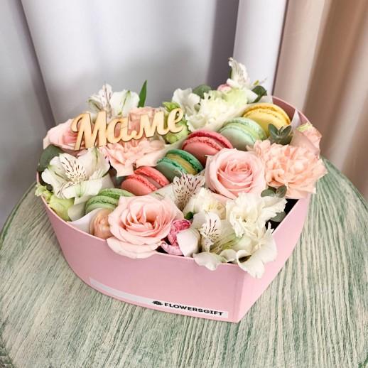 Коробка Сердце Маме № 3753