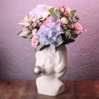 Кашпо Дора с цветами № 3719