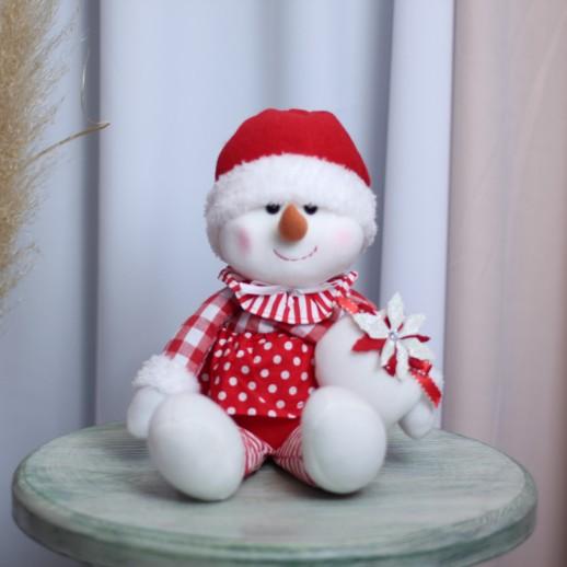 Снеговик сидячий