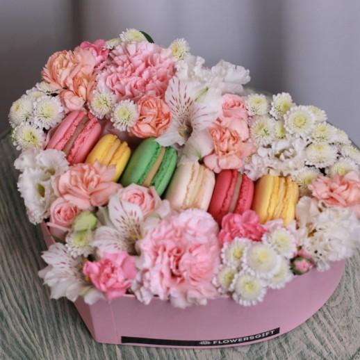 Сердце с цветами № 3767