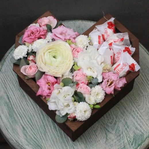 Сердце с цветами № 3769