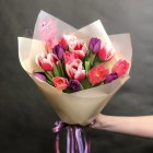 Букет из 15 тюльпанов № 3766