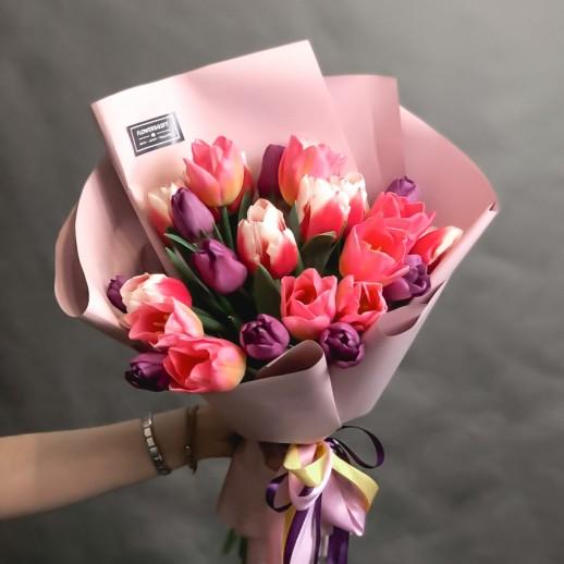 Букет из 25 тюльпанов № 3764