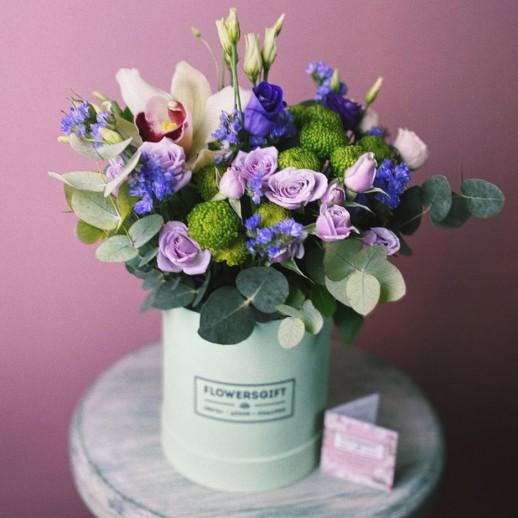 Коробка с цветами № 816