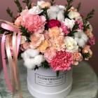 Коробка с цветами № 828
